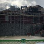 首里城の再建工事